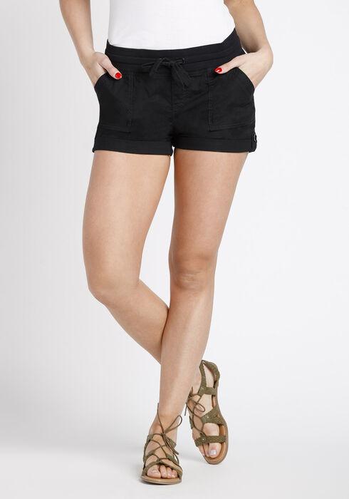 Women's Cargo Shortie, BLACK, hi-res