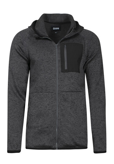 Men's Sweater Knit Zip Front Hoodie