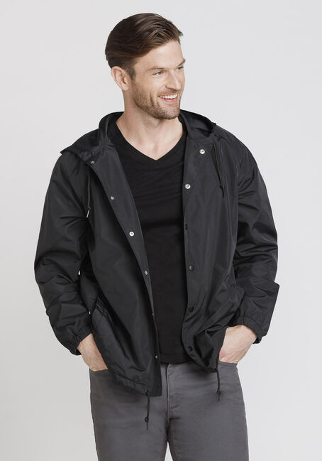 Men's Coach's Jacket, BLACK, hi-res