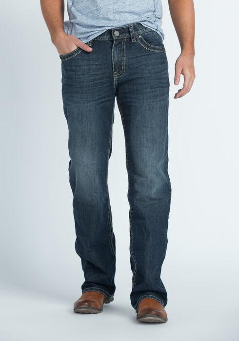 Men's Straight Leg Medium Dark Jeans, MEDIUM WASH, hi-res