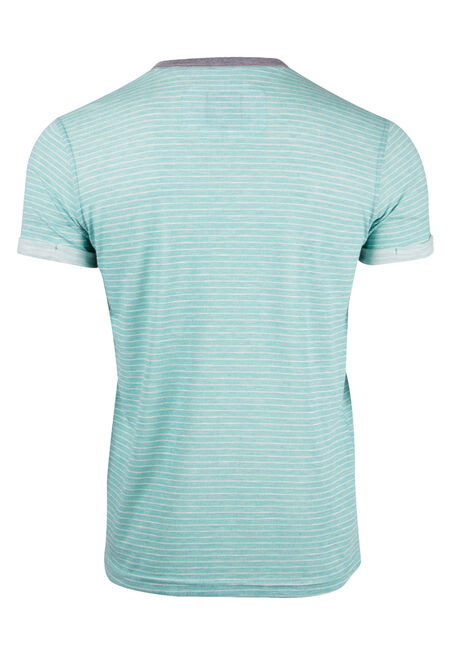 Men's Mini Stripe Henley Tee, OCEAN SPRAY, hi-res