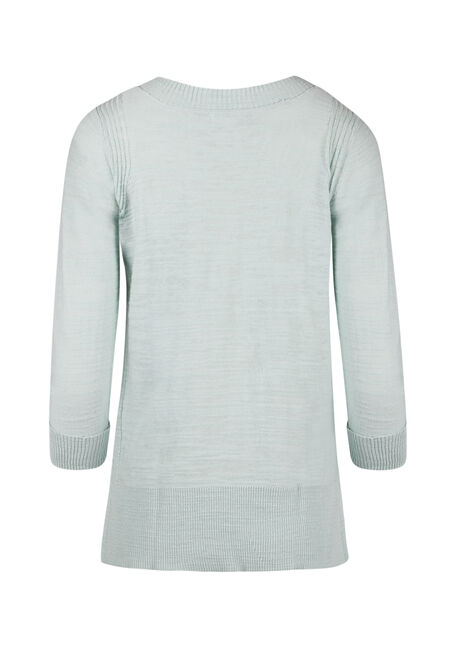 Ladies' V-neck Sweater, MEADOW GREEN, hi-res