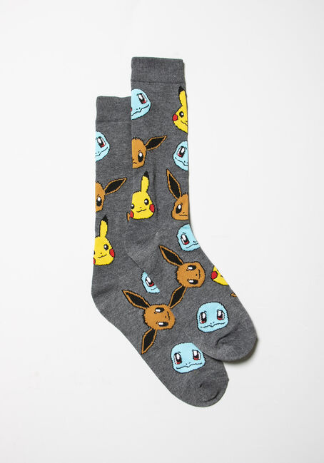 Men's Pokemon Single Crew Socks
