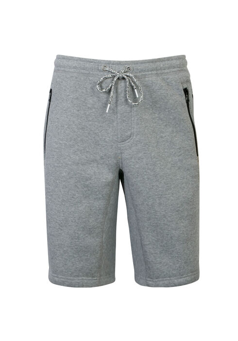 Men's Fleece Short, HEATHER GREY, hi-res
