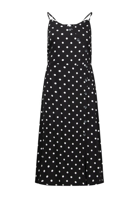 Women's Polka Dot Midi Dress
