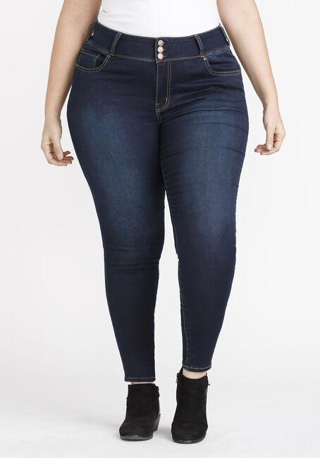 Women's Plus 3 Button Waist Skinny Jeans