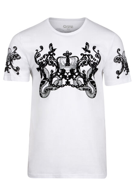 Men's Flocked Snake Tee