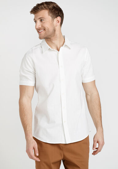 Men's Oxford Shirt, WHITE, hi-res