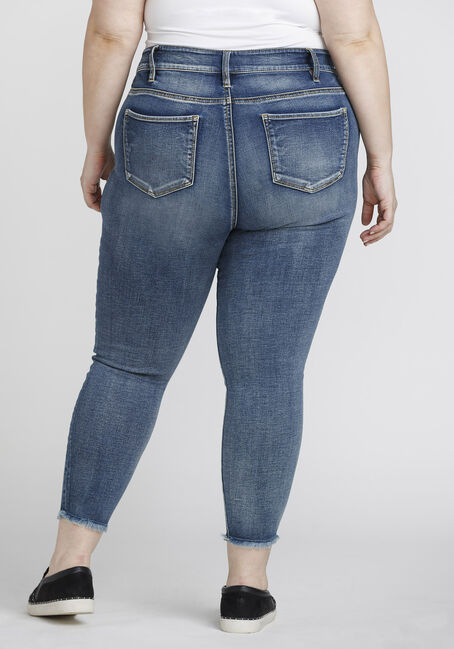 Women's Plus Size High Rise Skinny Crop, DENIM, hi-res