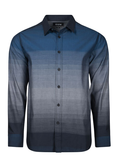 Men's Ombre Striped Shirt
