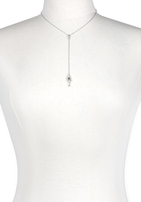 Women's Rhinestone Drop Necklace