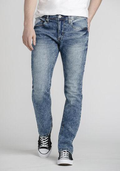 Men's Acid Wash Slim Jeans, LIGHT WASH, hi-res