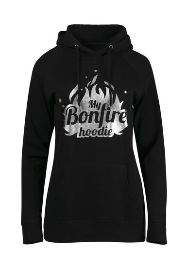 Women's Bonfire Hoodie, BLACK, hi-res