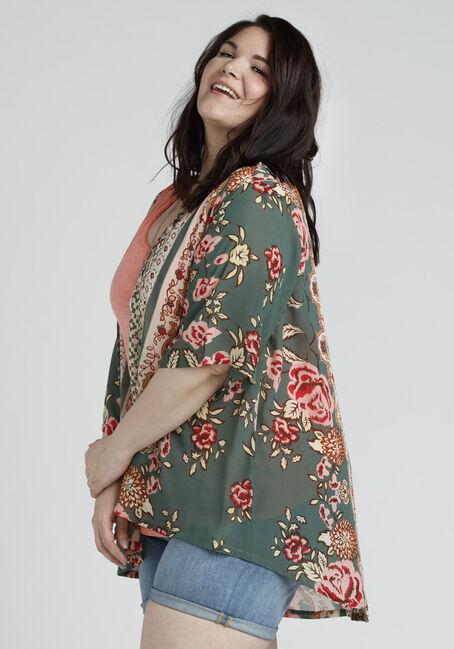 Ladies' Floral Kimono, MULTI, hi-res