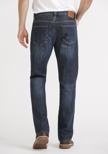 Men's Dark Classic Bootcut Jeans, DARK WASH, hi-res