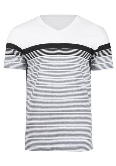 Men's Everyday Colour Block Stripe Tee, DARK SHADOW, hi-res