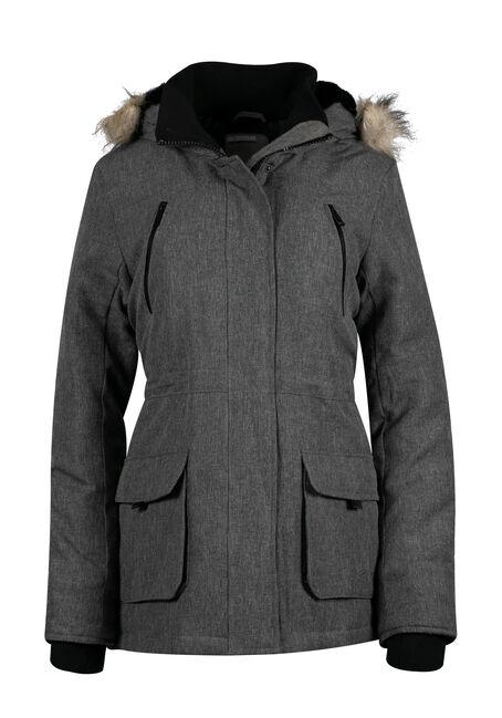 Ladies' Plus Size Fur Trim Parka