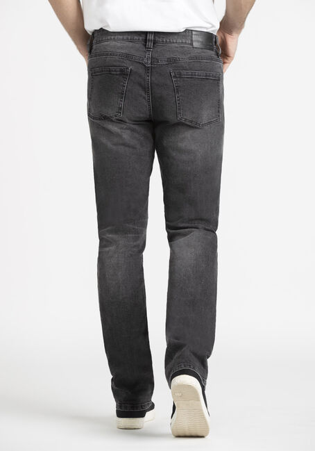 Men's Washed Black Slim Fit Jean, BLACK, hi-res