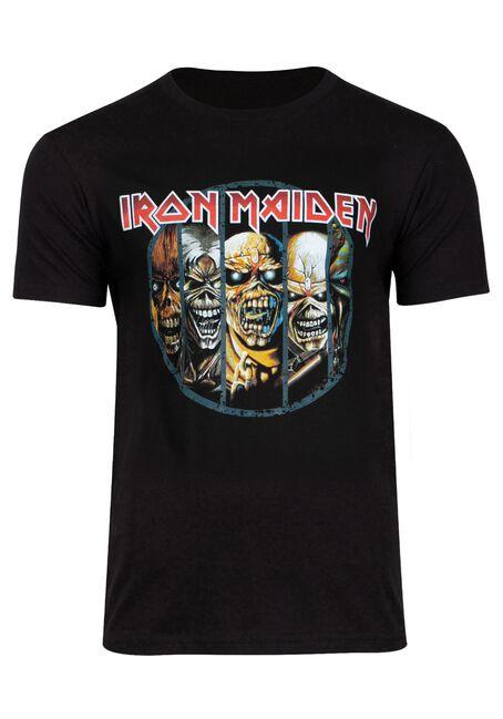 Men's Iron Maiden Tee, BLACK, hi-res