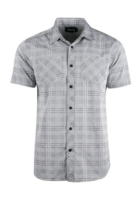 Men's Relaxed Tonal Plaid Shirt