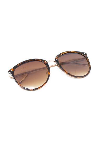 Women's Tortoise Sunglasses, MEDIUM BROWN, hi-res