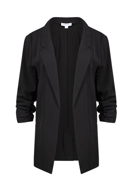 Women's Ruched Sleeve Blazer