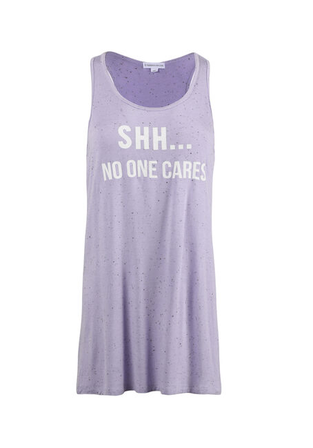 Ladies' Shh No One Cares Tank