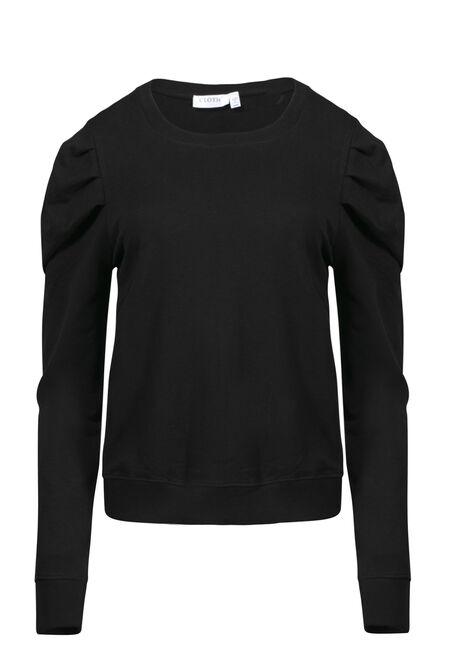 Women's Gathered Sleeve Sweatshirt