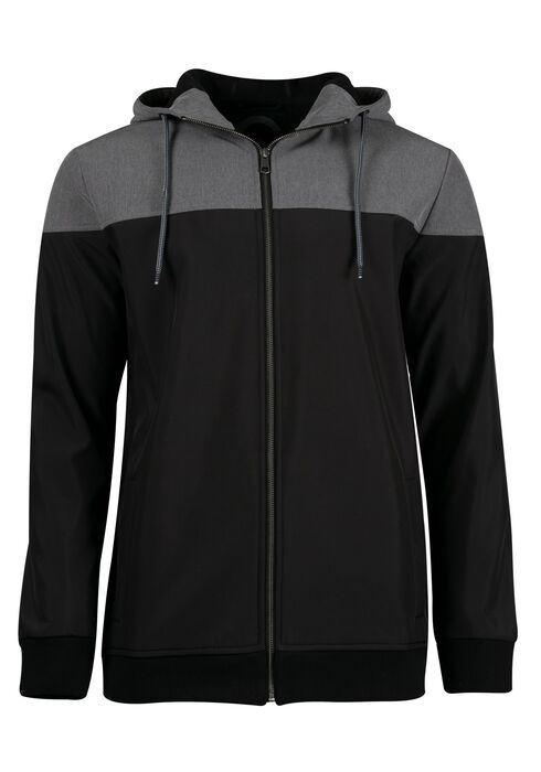 Men's Softshell Jacket, BLACK, hi-res