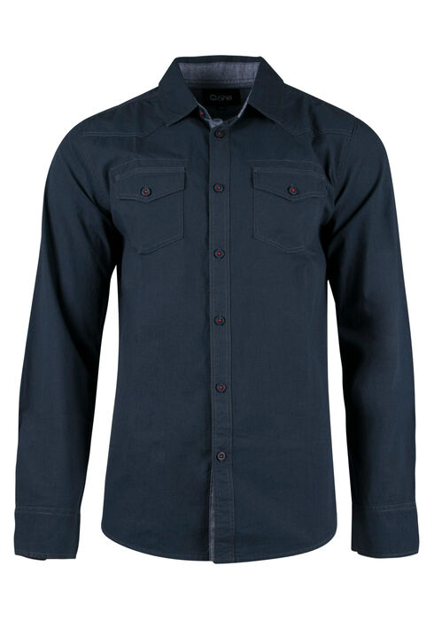 Men's Chambray Shirt, BLUE, hi-res