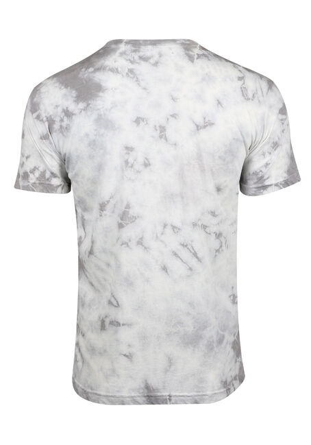 Men's Tie Dye Tee, LIGHT GREY, hi-res