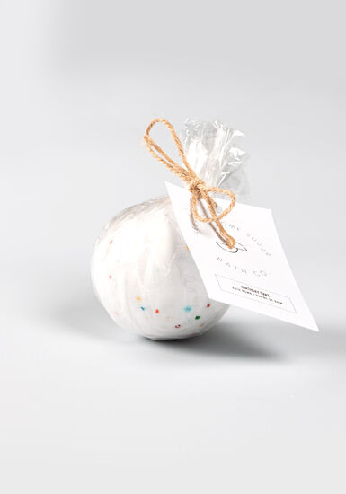 Birthday Cake Bath Bomb, WINTER WHITE, hi-res