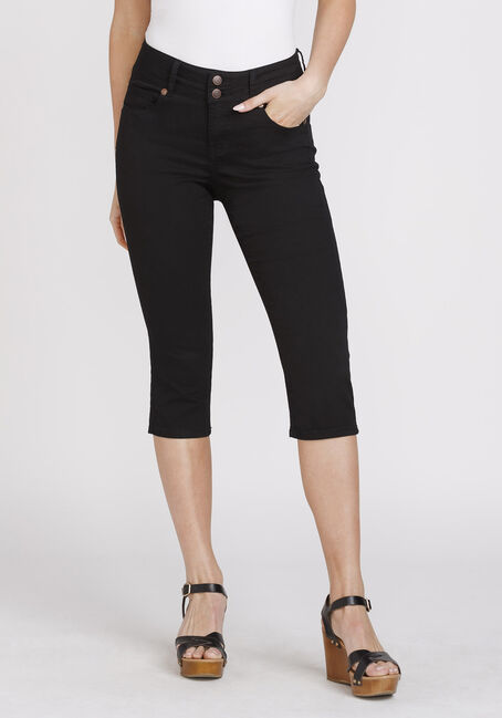 Women's Black Skinny Capri