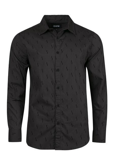Men's Comfort Stretch Flocked Shirt
