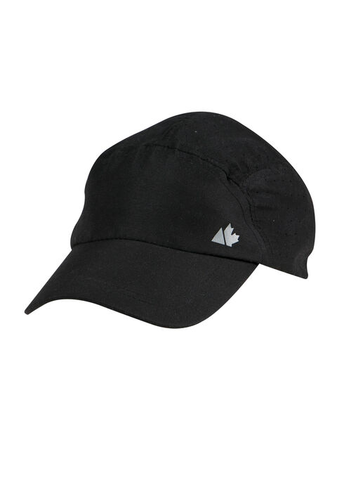 Ladies' Nylon Running Hat, BLACK, hi-res