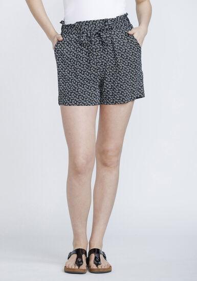 Women's Geo Pattern Soft Short, DENIM, hi-res