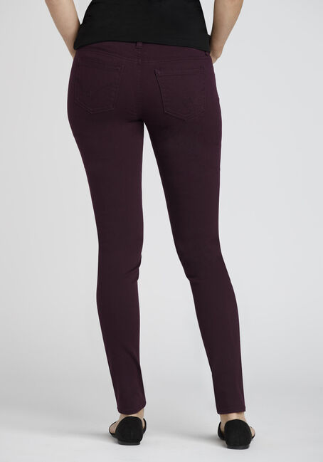Ladies' Colour Last Skinny Jeans, DARK PURPLE, hi-res