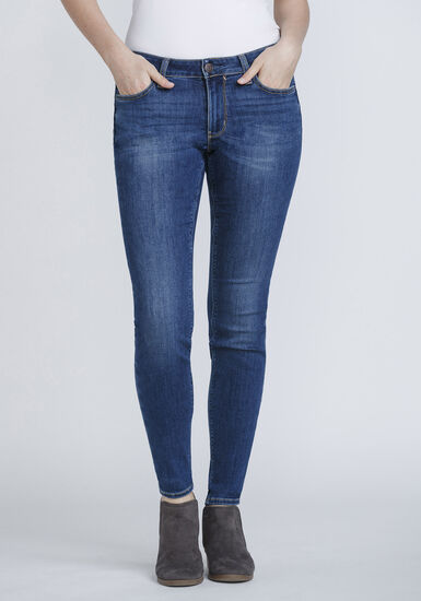 Women's Mid Rise Skinny Jeans, DENIM, hi-res