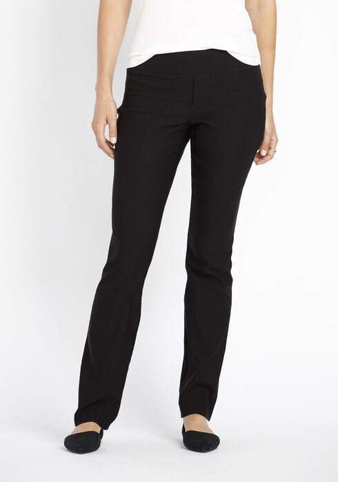 Ladies' Slim Boot Dress Pants, BLACK, hi-res