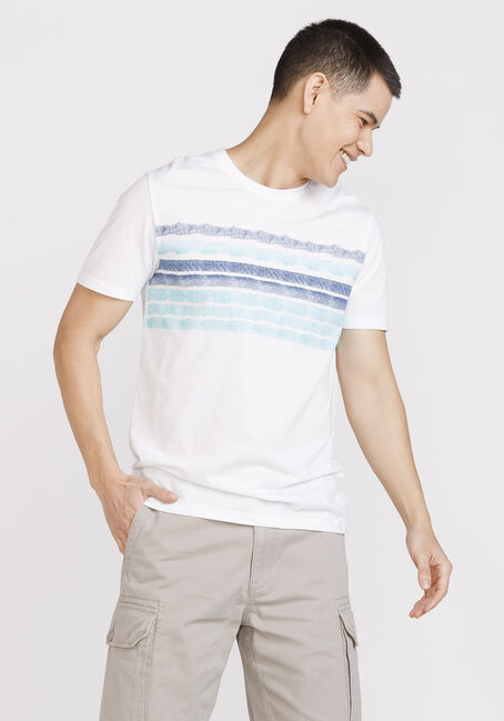 Men's Painted Stripe Everyday Crew Neck Tee, BLUE, hi-res