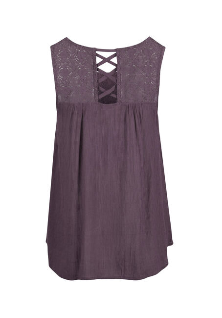 Ladies' Lace Yoke Tank, TULIP, hi-res