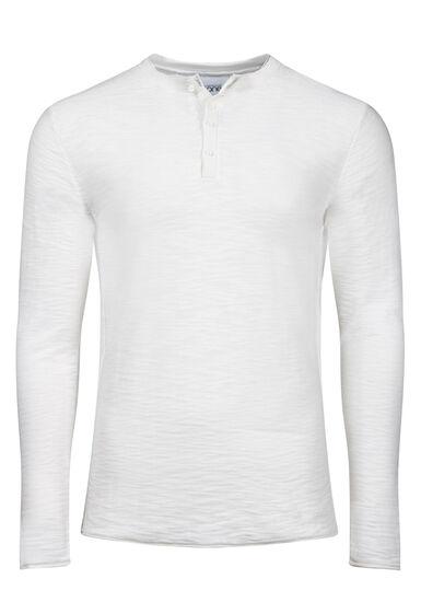 Men's Henley Sweater, IVORY, hi-res