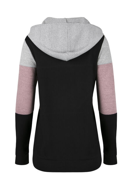 Ladies' Color Block Hoodie, ROSEWATER, hi-res