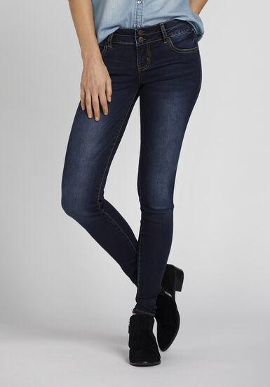 Women's Ink Wash High Rise Skinny Jeans, DARK WASH, hi-res