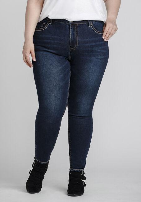 Women's Plus Size Indigo Wash Skinny Jeans