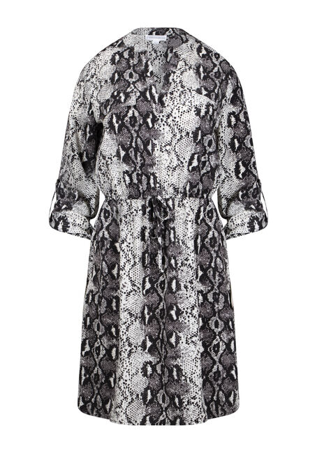 Women's Snake Print Shirt Dress