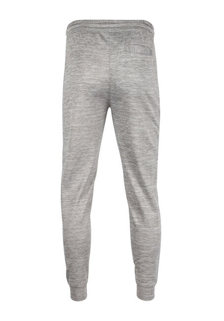 Men's Space Dye Fleece Jogger, HEATHER GREY, hi-res