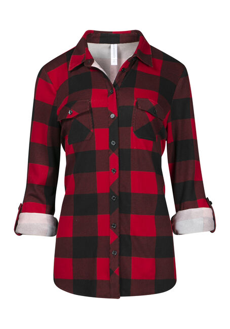 Women's Buffalo Plaid Knit Shirt