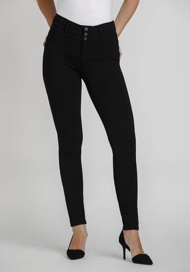 Women's High Rise Skinny Dress Pant, BLACK, hi-res