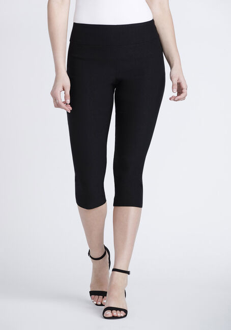 Women's Pull-On Black Capri Pant